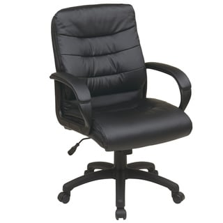 Office Star Products Work Smart Mid Back Faux Leather Executive Chair