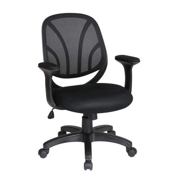 Office Star Products Screen Back Task Chair with Heavy Duty Aluminum Finished Base 11068409
