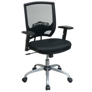 Office Star Products Work Smart Black Mesh Chair