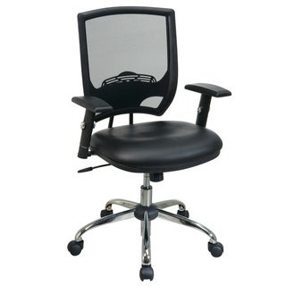 Office Star Products Work Smart Faux Leather Chair