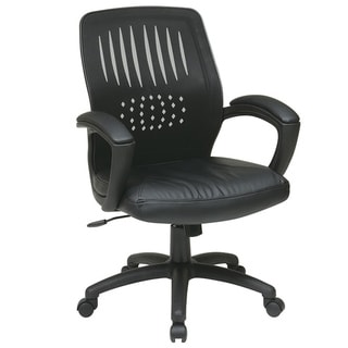 Office Star Products Work Smart Eco Leather Seat Chair