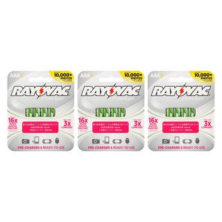 Rayovac 12 Pack Platinum Rechargeable NiMH Batteries AAA