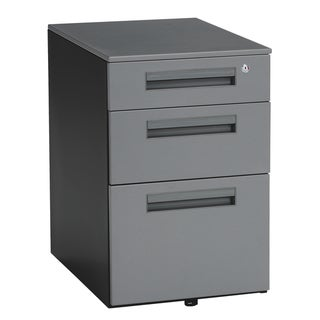 OFM 3 Drawer Steel Mobile File Pedestal