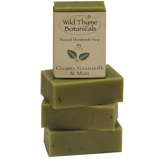 Creamy Goatsmilk and Mint Natural Handmade Soap Trio