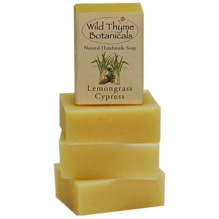 Lemongrass and Cypress Natural Handmade Soap Trio