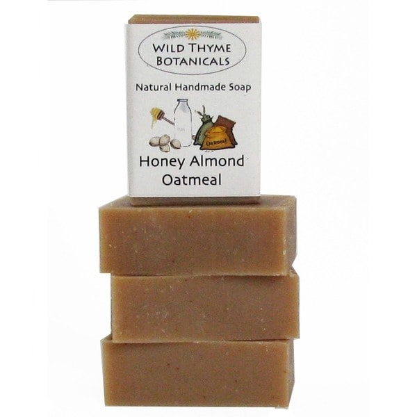 Honey Almond Oatmeal with Goatsmilk Natural Handmade Soap Trio