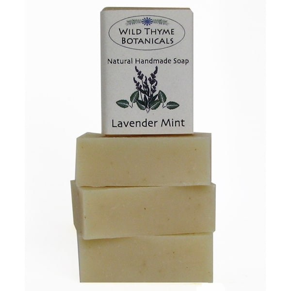 Lavender Mint Natural Handmade Soap Trio