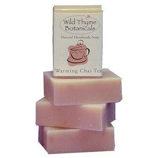 Warming Chai Tea with Cream Natural Handmade Soap Trio