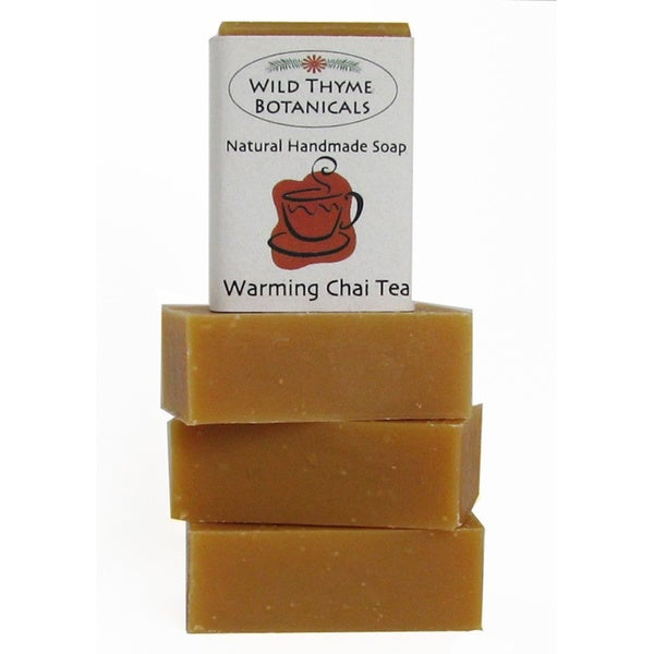 Warming Chai Tea with Cream Natural Handmade Soap Trio