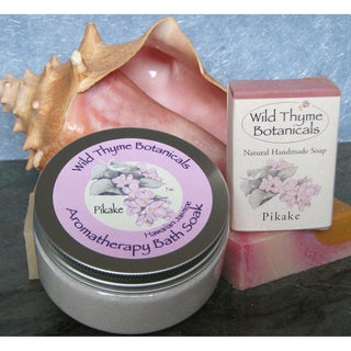 Pikake Soap and 7-ounce Bath Salt Set