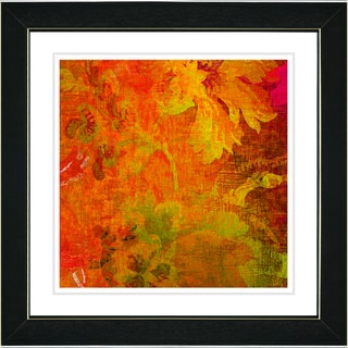 Studio Works Modern 'Red Liana' Framed Print