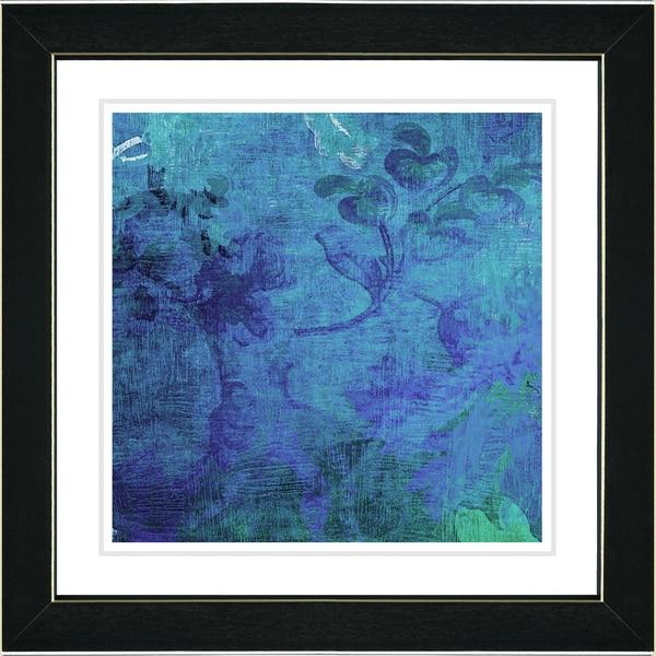 Studio Works Modern 'Blue Liana' Framed Print