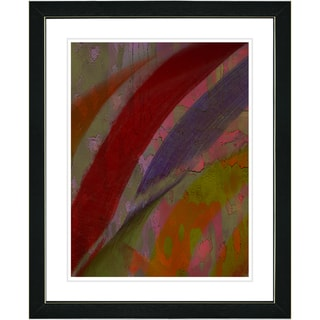 Studio Works Modern 'Cinnabar - Red' Framed Print