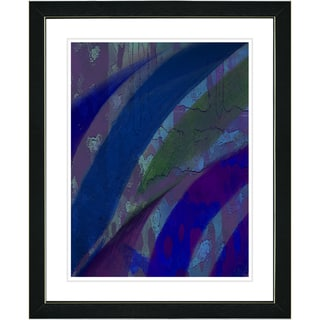 Studio Works Modern 'Cinnabar - Blue' Framed Print