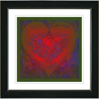 Studio Works Modern 'Filigree Heart - Red' Framed Print