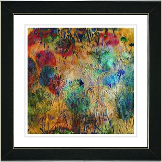 Studio Works Modern 'Reverie - Orange' Framed Print