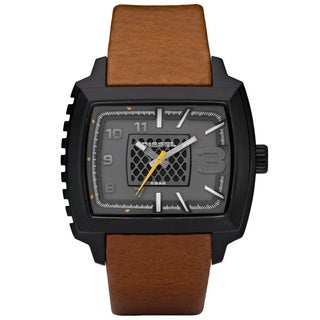 Diesel Men's Brown Leather Strap Watch