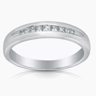 14k White Gold 1/4ct TDW Diamond Wedding Band (G-H, I1-I2)