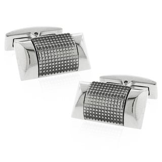 Moise High-Shine Wide Stainless-Steel Rectangle Cuff Links