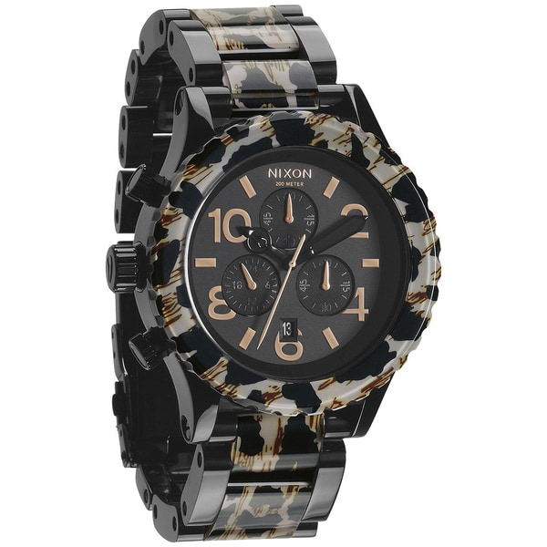 Nixon Men's '42-20 Chrono' All Black/Leopard Watch