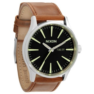 Nixon Men's 'Sentry' Brown/ Black Watch