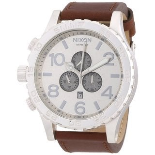 Nixon Men's '51-30' Leather Strap Chronograph Watch