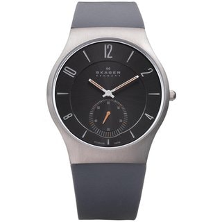 Skagen Men's 'Denmark' Grey Silicone Watch