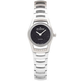 Skagen Silvertone Crystal-accented Swiss Movement Watch