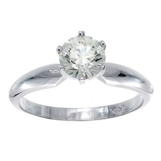 14k Gold Certified 7/8ct TDW 6-Prong Diamond Engagement Ring (J-K, VS1-VS2)