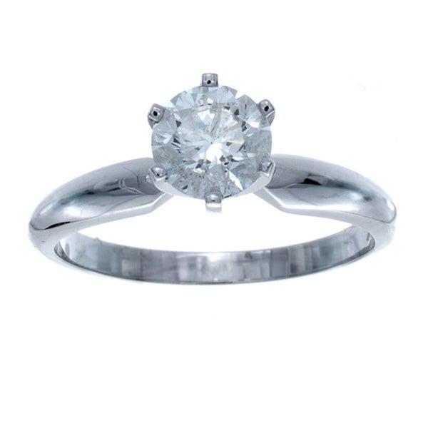 14k Gold Certified 3/4ct TDW 6-Prong Diamond Engagement Ring (I-J, VS1-VS2)