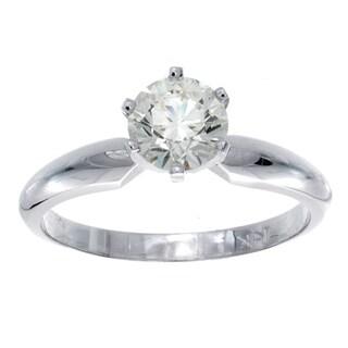 Victoria Kay 14k Gold 3/4ct TDW Certified Round Diamond Engagement Ring (J-K, SI2)