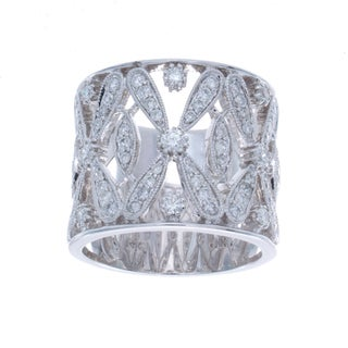 Victoria Kay 14k White Gold 7/8ct TDW Diamond Vintage Design Ring (I-J, I1-I2)