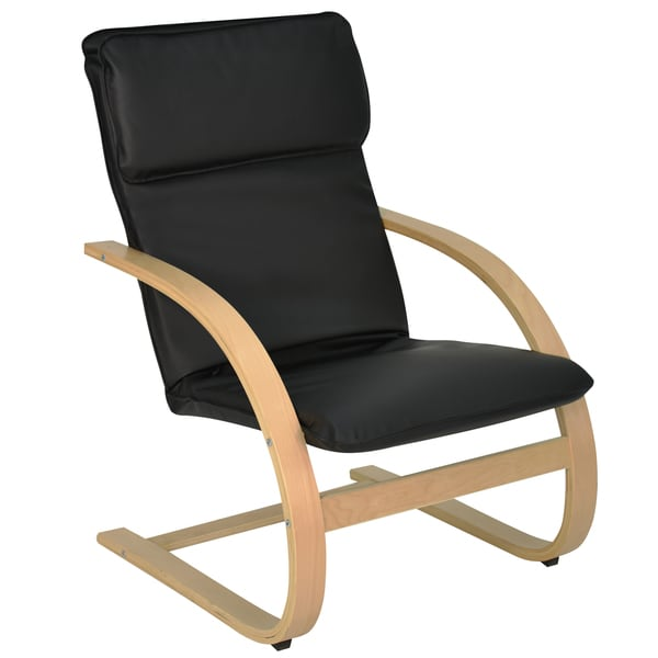 Leather Mia Reclining Bentwood Chair
