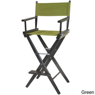 Director's Black Frame Barstool