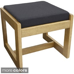 Single Seat Wood/Fabric Bench