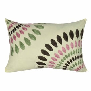 Funky Floral 14X20-inch Embroidered Throw Pillow