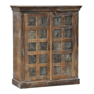 Creighton Brown 2-door Print Block Cabinet