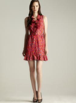 Rachel Zoe Belted Ruffle Dress