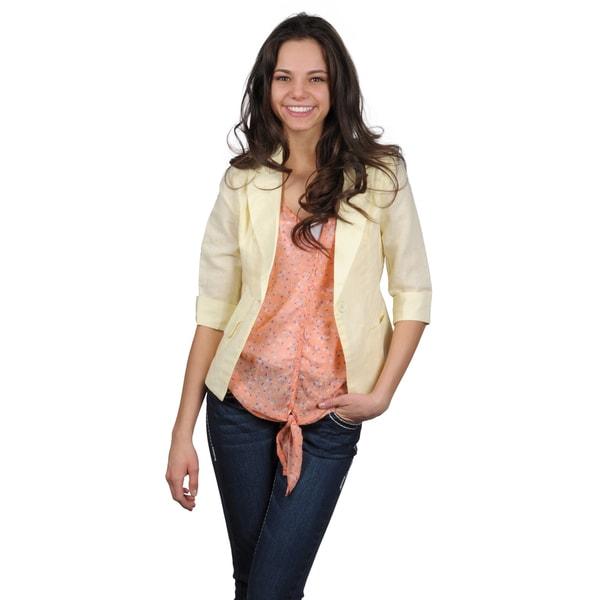 Journee Collection Juniors Lightweight Half-sleeve Jacket