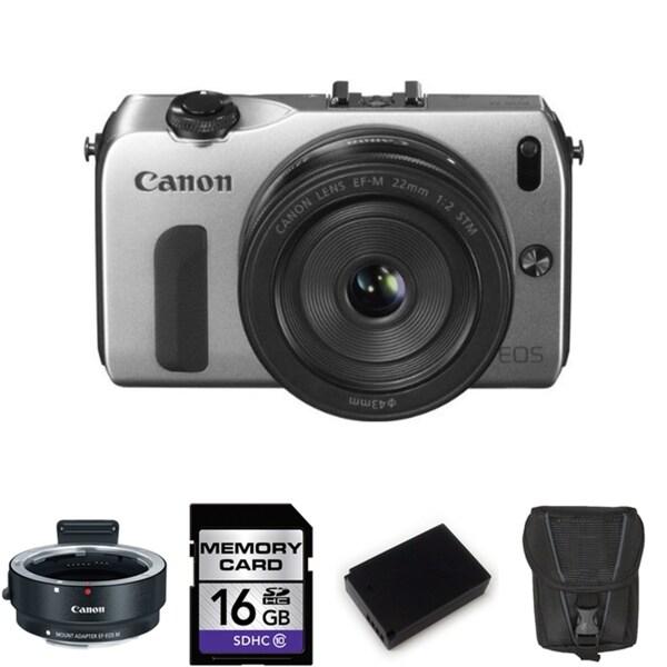 Canon EOS-M Mirrorless Digital Camera EF-M 22mm STM Lens 16GB Bundle