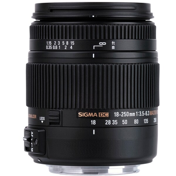 Sigma 18-250mm F3.5-6.3 DC Macro OS HSM for Nikon F Cameras