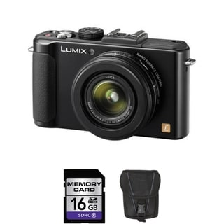 Panasonic Lumix DMC-LX7 10.1MP Black Digital Camera 16GB Bundle