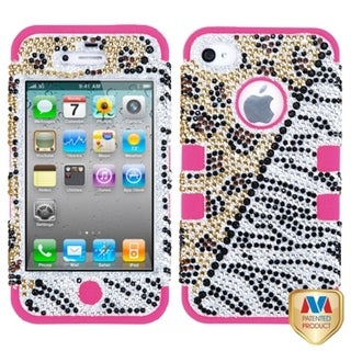 BasAcc Hottie Diamante/ Electric Pink TUFF Case for Apple iPhone 4/ 4S