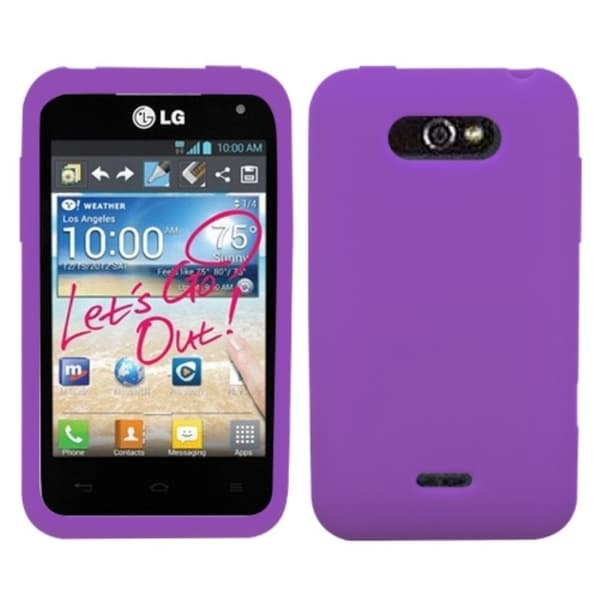 INSTEN Solid Electric Purple Phone Case Cover for LG MS770 Motion 4G