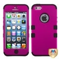BasAcc Hot Pink/ Black TUFF Hybrid Case for Apple iPhone 5
