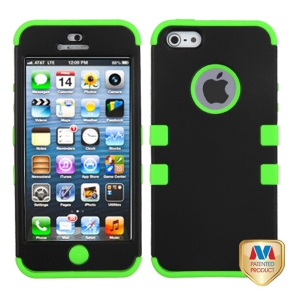 BasAcc Black/ Electric Green TUFF Hybrid Case for Apple iPhone 5