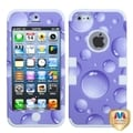 BasAcc Purple Bubbles/ White TUFF Hybrid Case for Apple iPhone 5