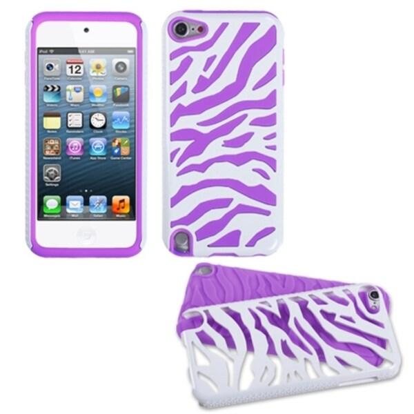 BasAcc Purple Zebra Hybrid Case for Apple iPod Touch 5th Generation