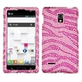 BasAcc Zebra Pink/ Hot Pink Diamante Case for LG P769 Optimus L9