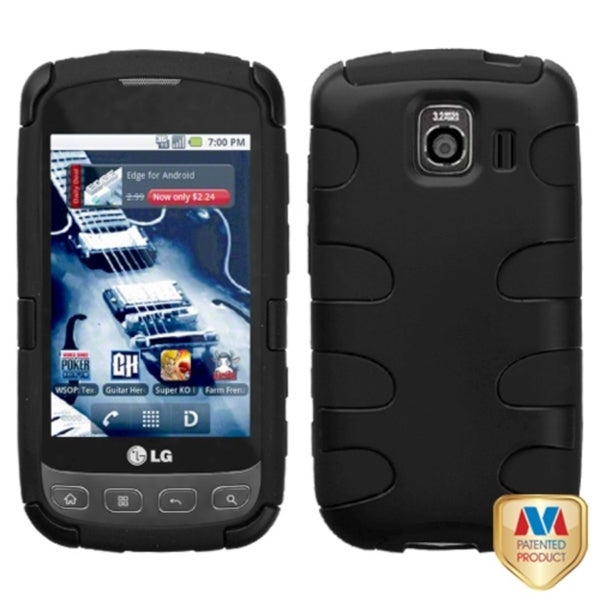 BasAcc Black Fishbone Case For LG LS670 Optimus S/ Optimus U VM670